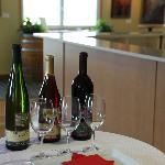 Wines in the tasting room