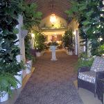 The atrium / hallway outside your room