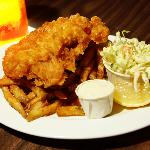 One piece Haddock and Chips, $8