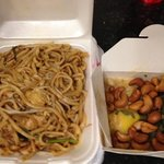shanghai noodle & mango chicken