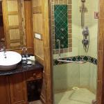 Bathroom with amazing shower