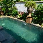 Private pool, small but clean and well maintained