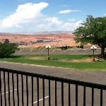 La vista dal balcone della camera