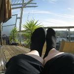 Relaxing on the deck - overlooking the Viaduct