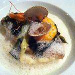 Sea bream with seaweed