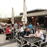 Outdoor Terrace at Coast Bar & Kitchen at Parkdean Southerness Holiday Park