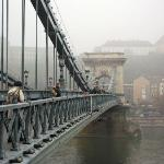 Walking from Pest to Buda on the bridge