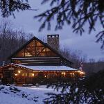 The main Lodge in winter.