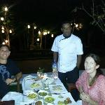 Us with the sensational Exec Chef at Kitchen by the Mekong
