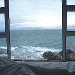 Sicht in die Bucht aus dem Bett
