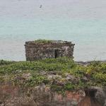 the ruin out on the beach