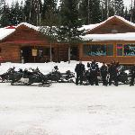 On NB snowmobile trail # 17