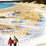 Hiking at Whitefish Dunes