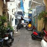 alley going to Luan Vu and Nhat Thao