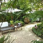 The leafy garden courtyard