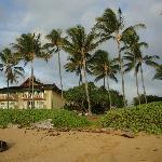view of resort from beach