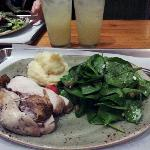 Pepper Chicken, Salad & Mashed Potato
