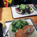 Chicken Sandwich & Steak + Salads