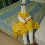 Cute towel lady made by the maid for us