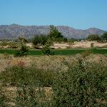 View of mountains and desert