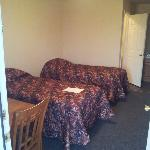 The beds in the room