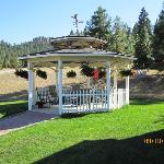 Gazebo with firepit