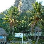 big white rock and resort entrance