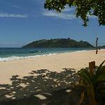 view of Wayalailai's beach from hammock