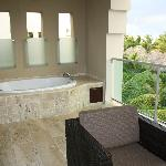 Jacuzzi bath on patio