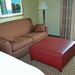 double sofa bed and large ottoman