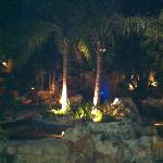 The grotto by the lobby was picture perfect day or night