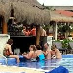 Swim up bar was the place to be during the day with Rafael, Tibu and Jacob!