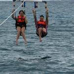 Taylor and Brandi parasailing trip #1