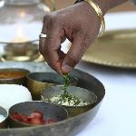 The food at Sher Bagh is cooked with freshly picked produce from the camp's organic garden