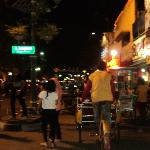 around and about the city center on a trishaw