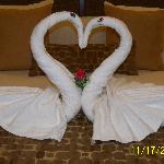 Our first day towel art