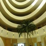 The six-storeyed, concentric ringed foyer.