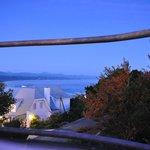 Uitzicht vanaf balkontafel.