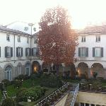 Four Seasons Milano, courtyard (cloister)