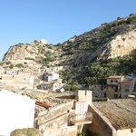 Blick von unserer Terasse auf die Dächer der Altstadt von Scicli