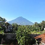 View of Volcan Agua from our terasa