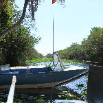 Start point of the airboat rides