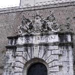 Hotel entrance overlooks entrance to Vatican Mesium