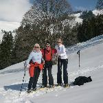 Snow shoeing with other guests from Germany