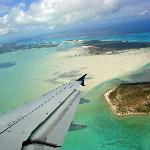 Our landing into Turks and Caicos