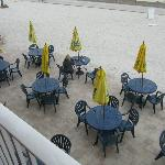 Beach bar seen from our balcony