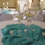 Decorations before the reception