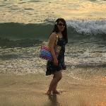 walking along the beach...water was so warm :)