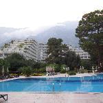 hôtel vus de la piscine