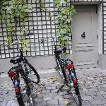 Complimentary Bikes in Courtyard